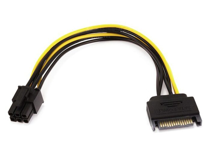 Sata to 6 Pin Power Cable